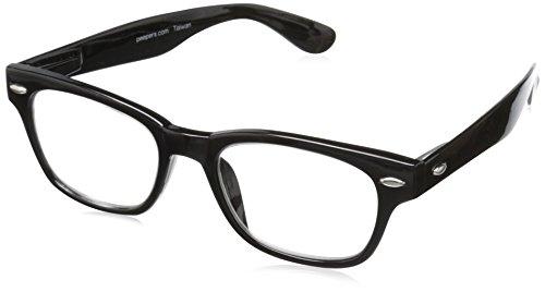 Peepers Men's Clark Retro Reading Glasses, Black, -