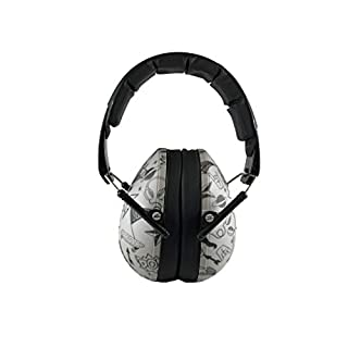 BANZ Earmuffs Hearing Protection – Premium Kids Ear Muffs - Block Noise (Grey Doodle)