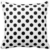 B Lyster shop Black White Polka Dot Cotton & Polyester Soft Zippered Cushion Throw Case Pillow Case ()