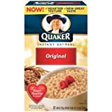 Quaker Instant Oatmeal Regular Oats 10 pk (Pack of 12)
