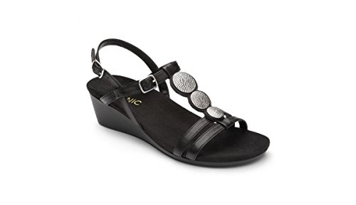Vionic Women's Noleen Wedge Hell Sandals Featuring Orthotic Footbed with FMT Support Technology