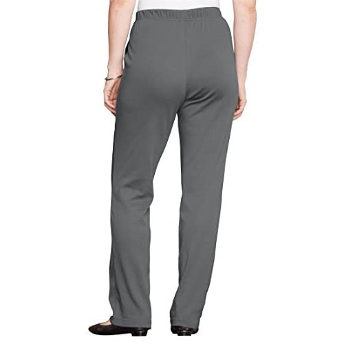 f4af1dd7f60 lovely Roamans Women s Plus Size Classic Soft Knit Pants ...
