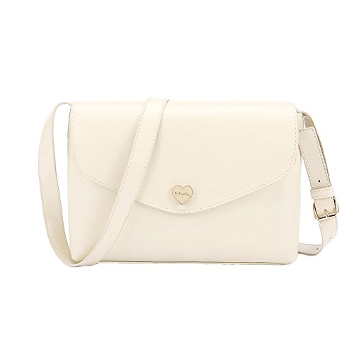 Handbag Candy Mini Fashion Design Shoulder Bag Women Heart Color DELEY Shaped Beige BqOTF