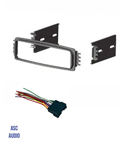 ASC Car Stereo Radio Dash Install Kit and Wire Harness for installing a Single Din Aftermarket Radio for 2000 - 2001 Hyundai Accent
