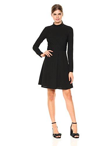 Turtleneck Flare (Wild Meadow Women's Mod Turtleneck Dress M Black)