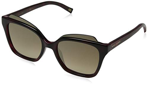 - Marc Jacobs Women's Marc106s Square Sunglasses, Red Havana/Brown Ss Bronze, 54 mm