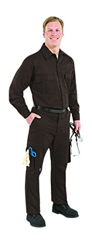 TOPPS SAFETY PP01-1855-28 PP01-1855 Mens Plain Front Glove Pocket Pants Brown 28 Waist Size
