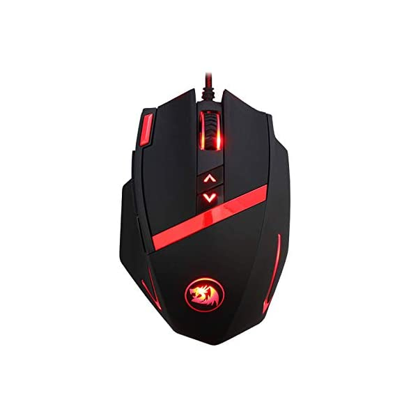 Redragon M801 PC Gaming Mouse LED RGB Backlit MMO 9 Programmable Buttons Mouse with Macro Recording Side Buttons Rapid…