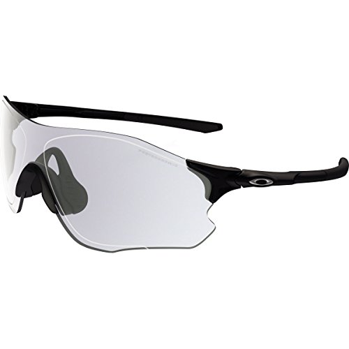 Oakley Men's Evzero Path Rectangular Sunglasses, Polished Black, 38.02 - A Lens Clear Frame Oakley