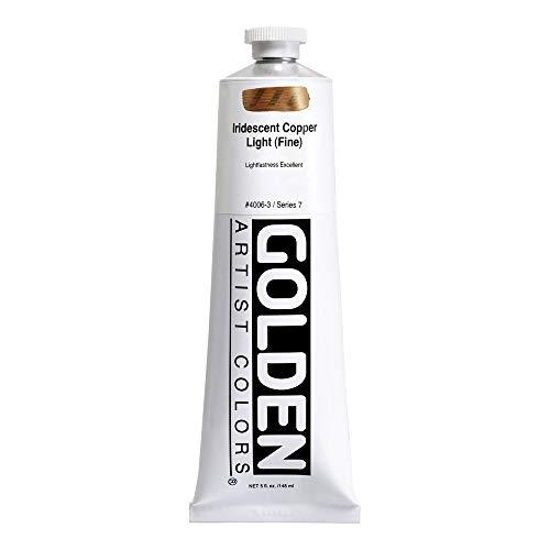 Golden Heavy Body Iridescent Acrylics - Iridescent Copper Light Fine 5oz tube