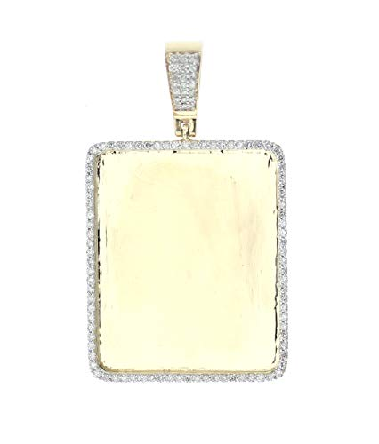 Midwest Jewellery 14K Gold Diamond Frame Pendant Picture Frame 1ctw Diamond