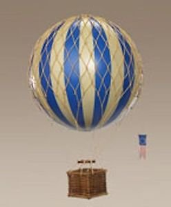 Travels Light Hot Air Balloon (Blue) - Authentic Models - Air Balloon Decorations