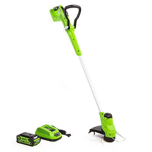 Greenworks 12-Inch 40V Gear Reduced String Trimmer, 2.0Ah Battery and Charger Included, ST40B211