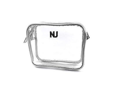 Nu Women Handbags Taylor Silver Clear Crossbody Bag, Stadium Event Approved