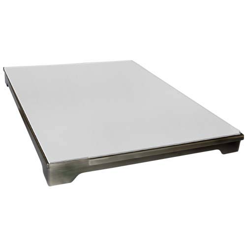 Cal Flame 089245002321 Pizza Brick Tray for Grill, Stainless Steel