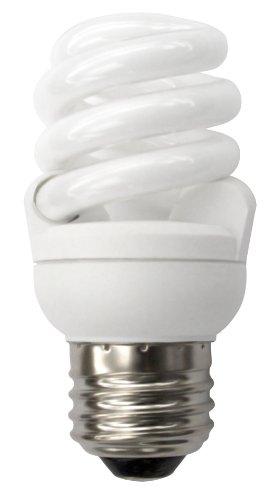 9w Springlamp - TCP 4T209 CFL T2 SpringLamp - 40 Watt Equivalent (only 9W used) Soft White (2700K) Medium (e26) Base Spiral Light Bulb - 550 Lumens