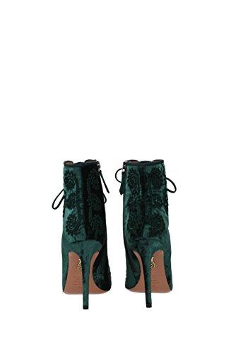 Almaty Mujer almhigb0vel Eu Verde Velvet Botines Aquazzura 76vqzwAf