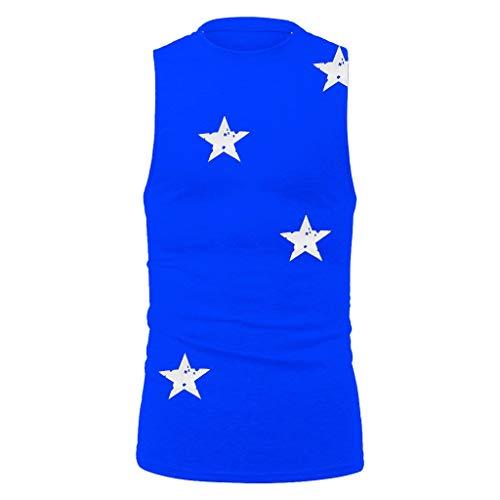 [해외]여자의 새로운 스타 인쇄 조끼 여름 간단한 유행 스포츠 피트 니스 / Bsjmlxg Men`s New Star Printed Vest Summer Simple Fashionable Sports Fitness