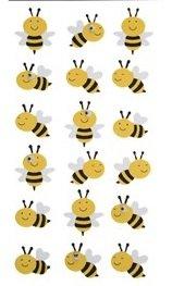 Foam Dimensional Stickers Art - 3-d Bumblebee Glitter Foam Dimensional Stickers Bee