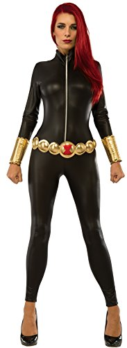 Womens Black Widow Costume (Rubie's Marvel Women's Universe Black Widow Costume, Multi,)