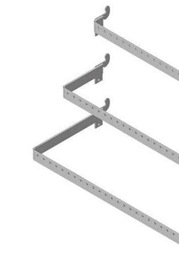 Lozier Perforated Crossbar Universal 48 In. X 12 In. D