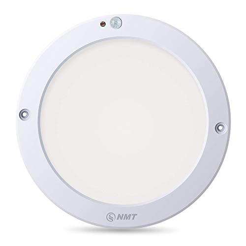 LED Motion Sensor Ceiling Light, 1100 Lumen 3000K Φ8.66 Inch Flush Mount Lights, for Stairs/Depot/Bathroom/Toilet/Closet/Hallway/Indoor/Outdoor, 100 Watt Equivalent, Warm White