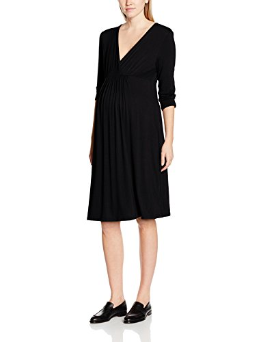 Bellinella BL1003, Vestido de Maternidad Para Mujer Negro (Schwarz Schwarz)