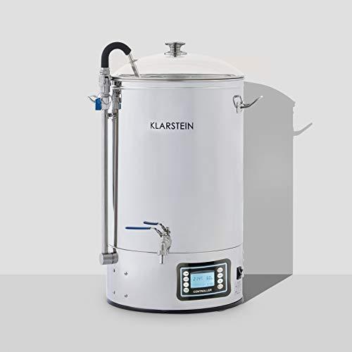 Klarstein Mundschenk – bierbrouwsysteem, puree, 30 L, 2500 W, aanraakscherm, circulatiepomp, roestvrij staal, zilver