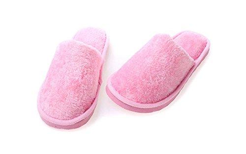 Bain Eagsouni Hiver Pantoufles Intérieure Chaussons Chaudes Rose Femme Maison Pour Doublure Mules Peluche Homme Doux Slippers Douce De Chaussures 11wEqYrxC