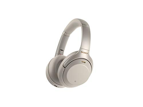 Sony Noise Cancelling Headphones WH1000XM3: Wireless Bluetooth Over the Ear Headphones with Mic and Alexa voice control - Industry Leading Active Noise Cancellation - Silver (Best Headphones For Bass And Noise Cancelling)