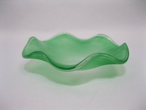 Green Glass Dish - Variation Color 4.25