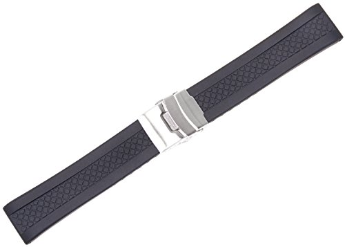 Textured Divers Clasp Watchband - 22mm
