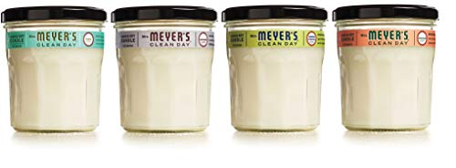 Mrs. Meyer's Clean Day Scented Soy Candle 4 Scent Variety Pack, Large Glass, 7.2 OZ Each (Variety Pack)