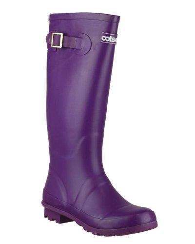 Cotswold mit Damen Schuhe Violett Highgrove mit Welly Schnalle Stiefel Damen rqrYwH4