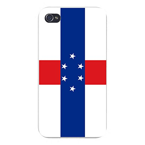 Apple iPhone Custom Case 5 / 5S White Plastic Snap On - World Country National Flags - Netherlands Antilles
