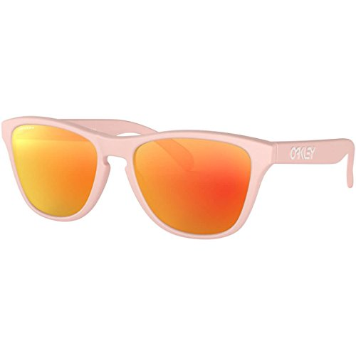 Oakley Boys' Frogskins Xs Non-Polarized Iridium Round Sunglasses, Matte Pink, 53.0 mm