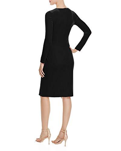 017F Sz Sheath Dress Women's Velvet Halo Miramar Long 8 Black Black Sleeve TxYPwqzZZR