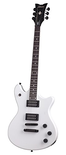 Schecter JERRY HORTON TEMPEST Sat Wht Solid-Body Electric Guitar, Satin White