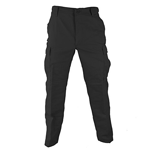 Propper Men's Bdu Trouser - Button Fly - 65/35 Ripstop, Black, Large Regular