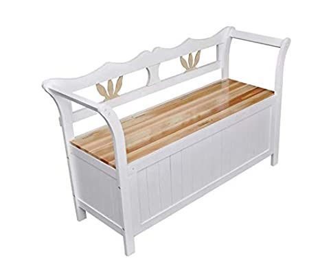 Sensational Georges Home Monks Storage Bench Hallway Wooden Room Furniture Country Farmhouse Window Seat Unit Pew Small Chair Settle White Vintage Shabby Chic Caraccident5 Cool Chair Designs And Ideas Caraccident5Info