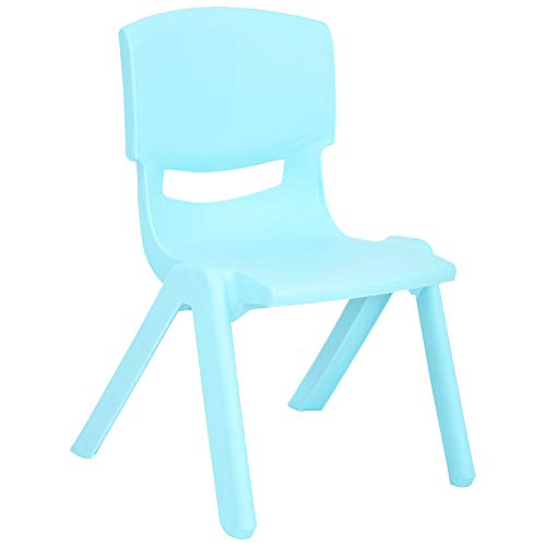 - JOON Stackable Plastic Kids Learning Chairs, 20.8x12.5 Inches, The Perfect Chair for Playrooms, Schools, Daycares and Home (Baby Blue)