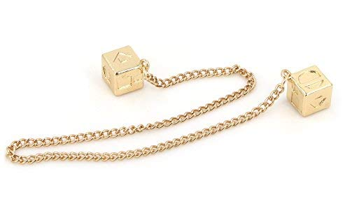 Men's Lucky DICE Costumes Charms Jewelry for HAN Solo Cosplay (Chain Cube) ()