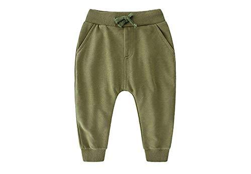 MaxTide Boys Pattern Cotton Pants Drawstring Elastic Sweatpants(Army -