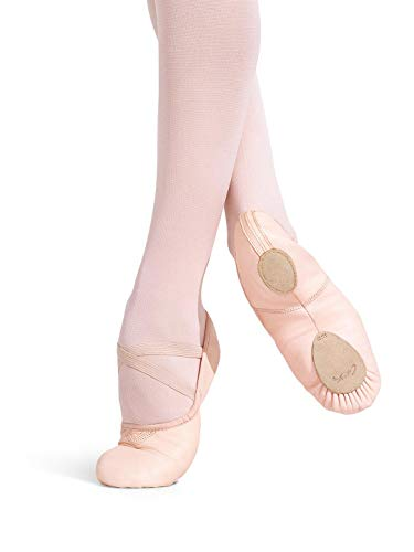 Capezio Women's Leather Cobra Ballet Shoe,Light Pink,8 M US
