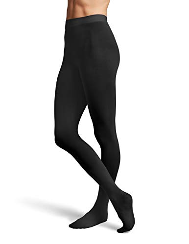 Bloch Women's Ladies contoursoft Footed Tights, Black, Large/X-Large