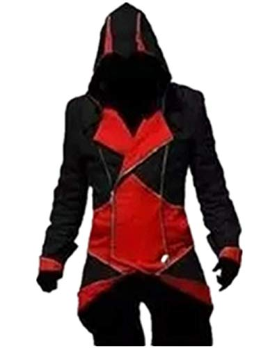 (Assassin's Creed Cosplay Connor Jacket Costume (Male M, Black and)