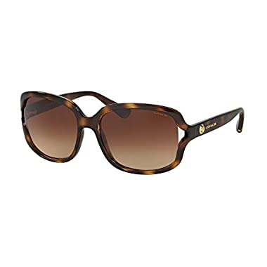2344c225104 Coach Women s HC8169 Sunglasses Dark Tortoise Brown Gradient 57mm