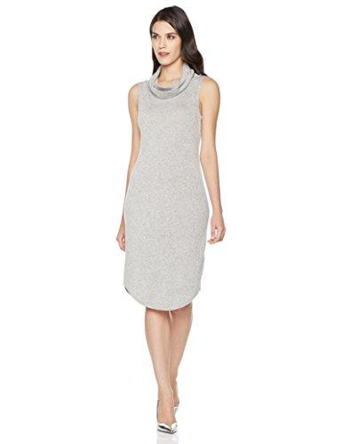 Mariella Bella Women's Sleeveless Drapey Cowl Neck Dress Large Light Grey Heather - Sleeveless Cowl Neck Dress