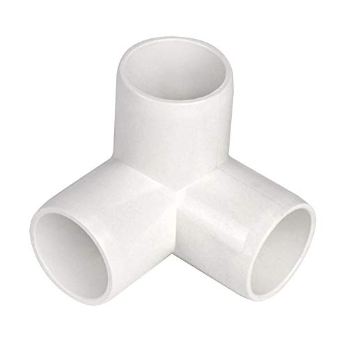 Gardeningwill 3 Way 1-Inch Tee PVC Fitting Build Heavy Duty Greenhouse Frame Furniture Connectors (Pack of 8)