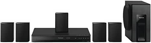 Panasonic Home Theater System SC-XH105 (Black) 5.1 Surround Sound, Upconvert DVDs to 1080p Detail